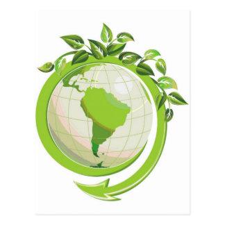 EARTH DAY GO GREEN POSTCARD