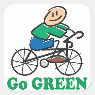 Earth Day Go Green Square Sticker