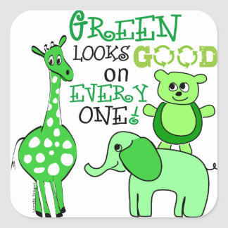 Earth Day Green Message Sticker
