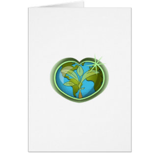 Earth Day Heart Greeting Card