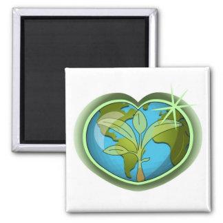 Earth Day Heart Fridge Magnet