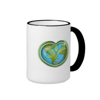Earth Day Heart Ringer Mug