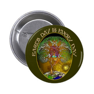 Earth Day is Every Day 6 Cm Round Badge