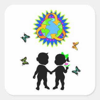 Earth Day Kids Sticker