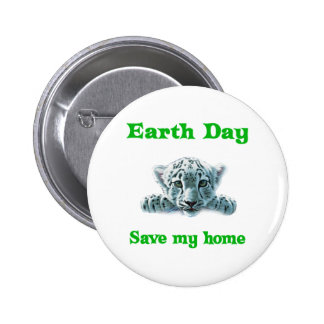 Earth Day Leopard Cub 6 Cm Round Badge
