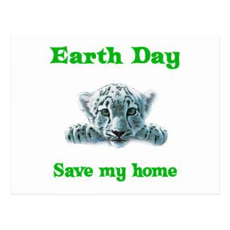 Earth Day Leopard Cub Postcard