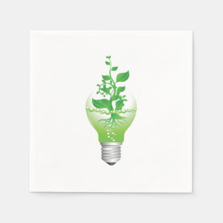 Earth Day Lightbulb Paper Napkins