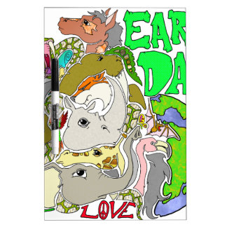 EARTH DAY LOVE DRY ERASE WHITEBOARD