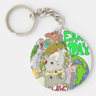 EARTH DAY LOVE KEY CHAINS