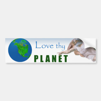 Earth Day - Love Thy Planet Bumper Sticker