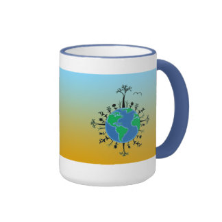 Earth Day Ringer Coffee Mug