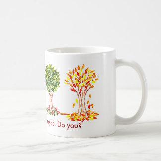 Earth Day Mug,Trees know how to recycle. Do you? Basic White Mug