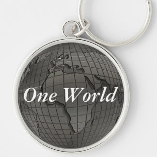 Earth Day One World Keychain
