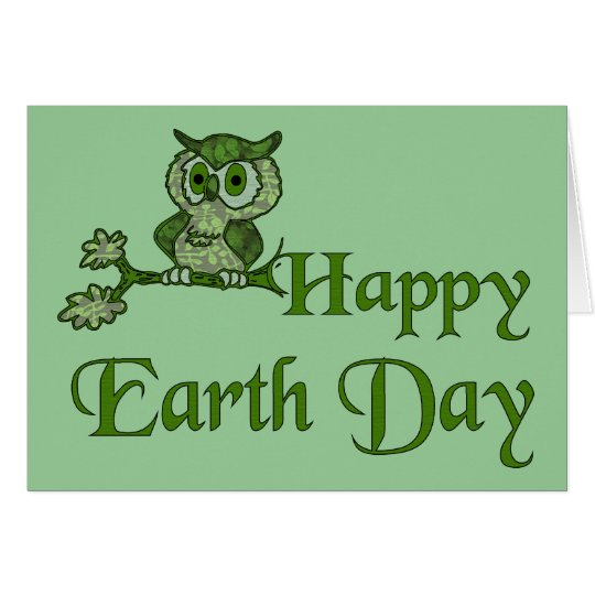 Earth Day Owl Card