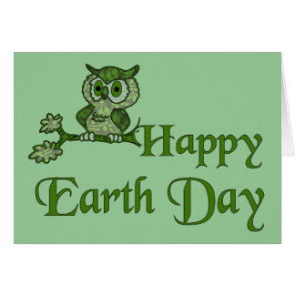 Earth Day Owl Greeting Card
