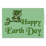 Earth Day Owl Greeting Cards