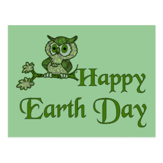 Earth Day Owl Postcard