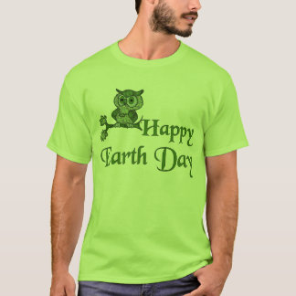 Earth Day Owl T-Shirt