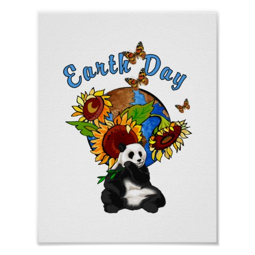 Earth Day Panda Planet Posters
