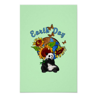 Earth Day Panda Planet Poster