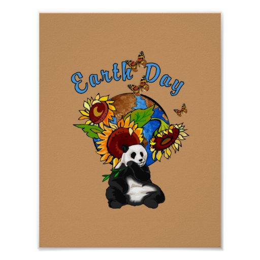 Earth Day Panda Planet Poster
