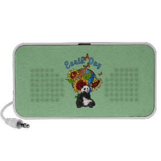 Earth Day Panda Planet Laptop Speakers