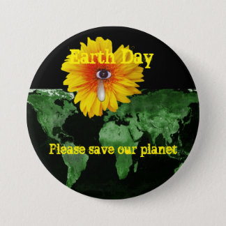 Earth Day Picture 7.5 Cm Round Badge