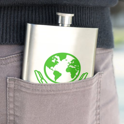 earth day hip flask