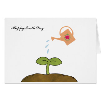 Earth Day Plant trees Make a Difference Card