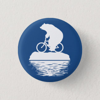 EARTH DAY: Polar Bear Bicycle Button