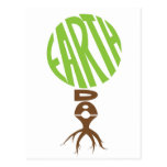 Earth day Post Card, tree shape Postcard