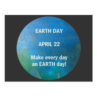 EARTH DAY - postcard
