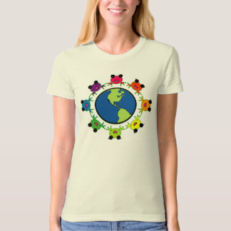 earth day RAINBOW FROG organic shirt