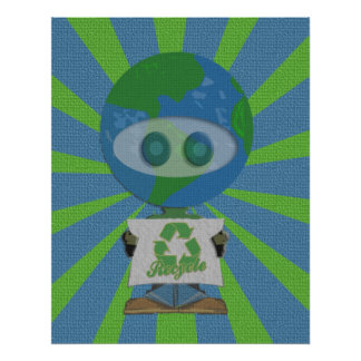Earth Day Recycle Poster Art