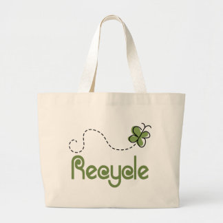 Earth Day Recycle T-shirt Large Tote Bag