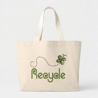 Earth Day Recycle T-shirt Jumbo Tote Bag