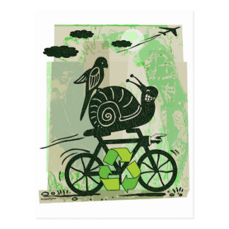Earth Day Recycling Snail Postcard