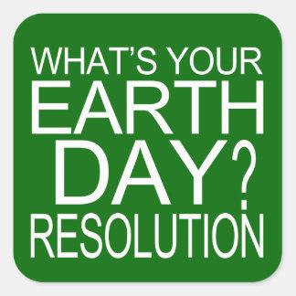 Earth Day Resolution Square Sticker