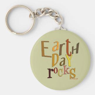 Earth Day Rocks Keychain