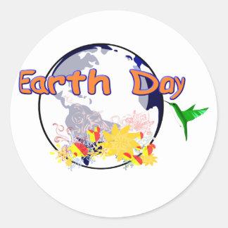 Earth Day Round Sticker