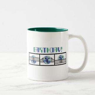 Earth Day- See No Evil Two-Tone Coffee Mug