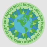 Earth Day Slogans Stickers