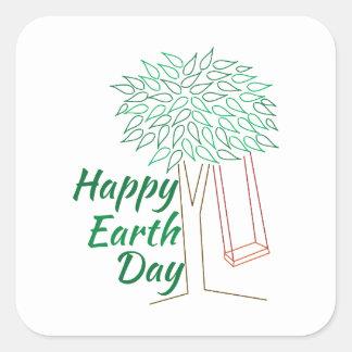 Earth Day Square Sticker