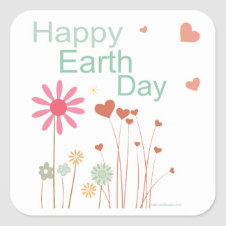 Earth Day Square Stickers