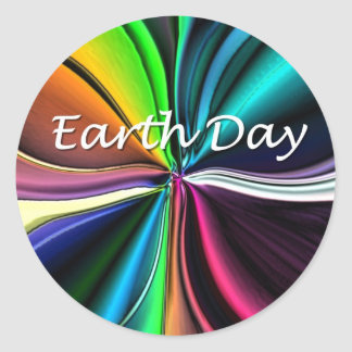 Earth Day Round Stickers