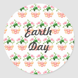 """Earth Day"" Stickers. Classic Round Sticker"