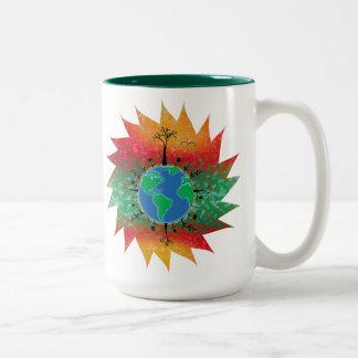 Earth Day ~ Sunrise Two-Tone Coffee Mug