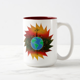 Earth Day ~ Sunset Two-Tone Coffee Mug