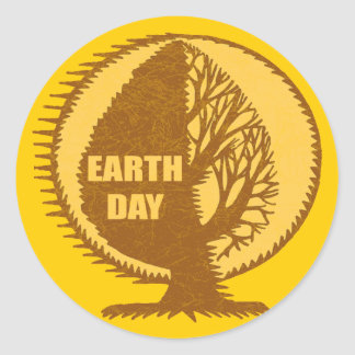 Earth Day T Shirts and Gifts Round Sticker