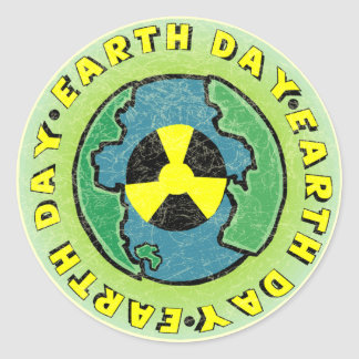 Earth Day T Shirts and Gifts Round Stickers
